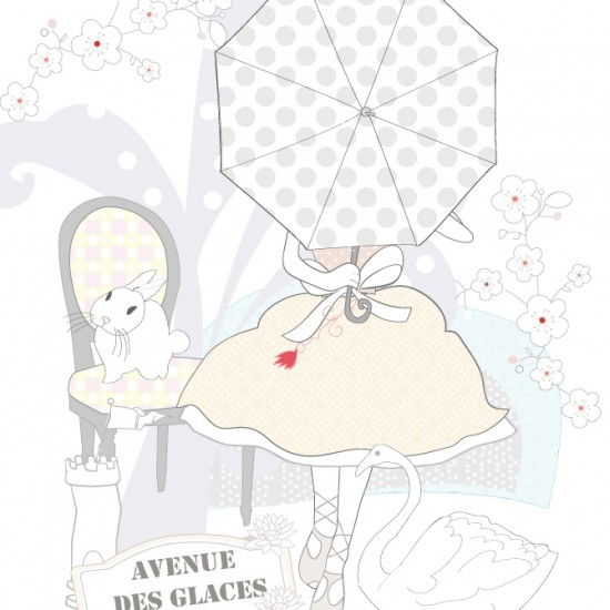 Carte blanche - Petite illu de Mamzelle Confetti