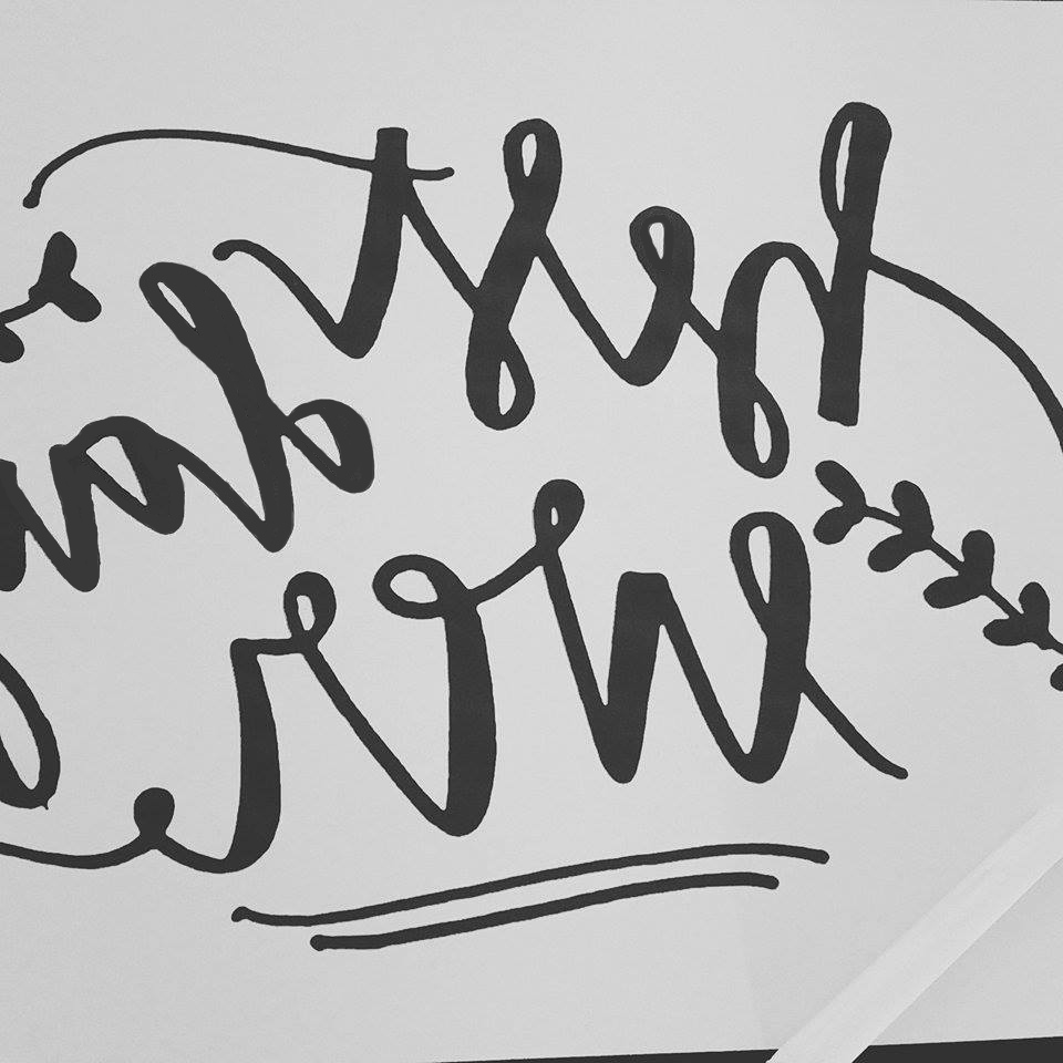 calligraphie peinture ardoise