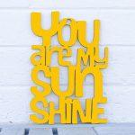 Let the sunshine in avec le jaune !