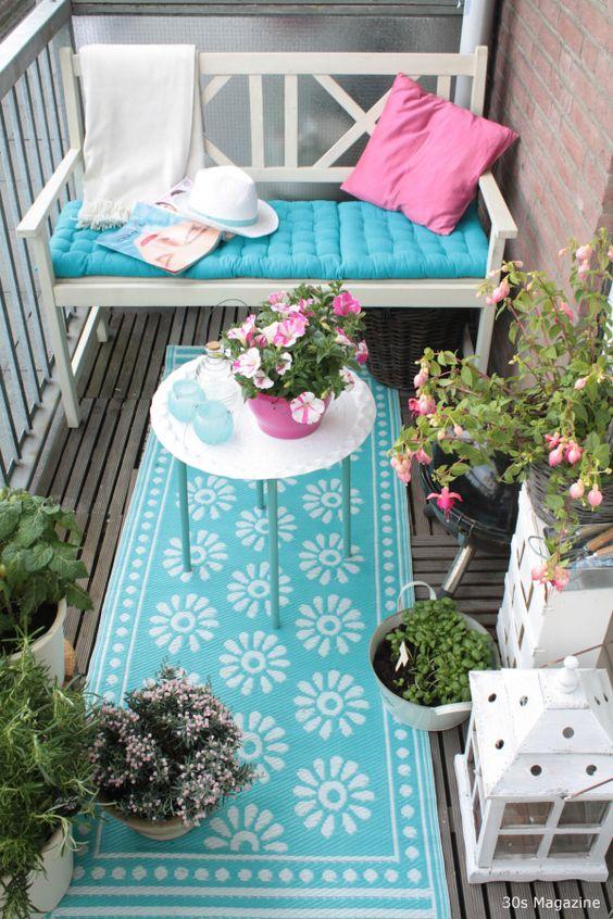 Un balcon comme un petit jardin !